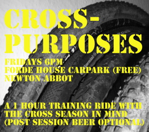Cross puposes training ride