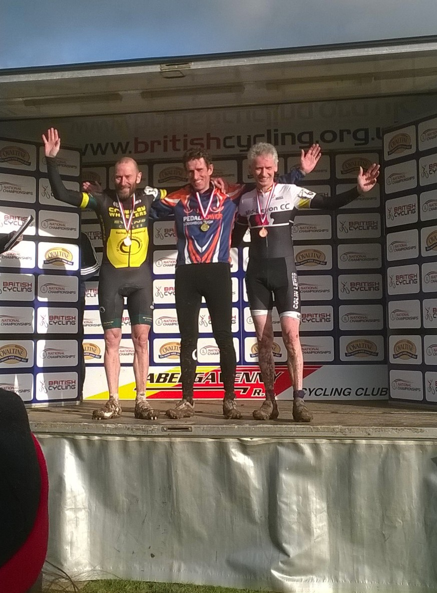 Robin Delve on the podium