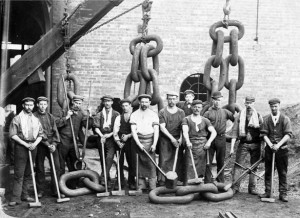 The usual suspects on the chain gang. Sledge hammers not required.
