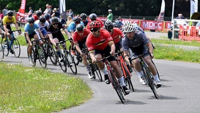 Georgie Savva on his way to winning Torbay Grand Prix - Credit: MD Cycling Club